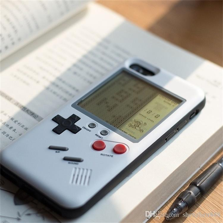 Retro Game Tetris Phone Cases Brick Game Console Cover TPU Shockproof Protection Phone Case For Iphone 6 6s 7 8 Plus Retail package