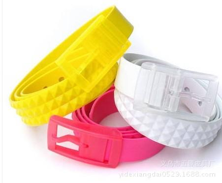 Children's Belt Iron Free Anti Metal Allergy Silicone Color Belt