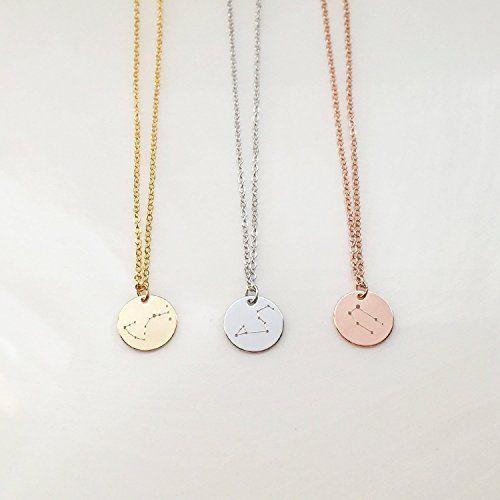 12p جيم الذهبية / الفضية جولة كوين 12 كوكبة قلادة زودياك قلادة سلسلة مجوهرات الإكسسوار هدية لصديق