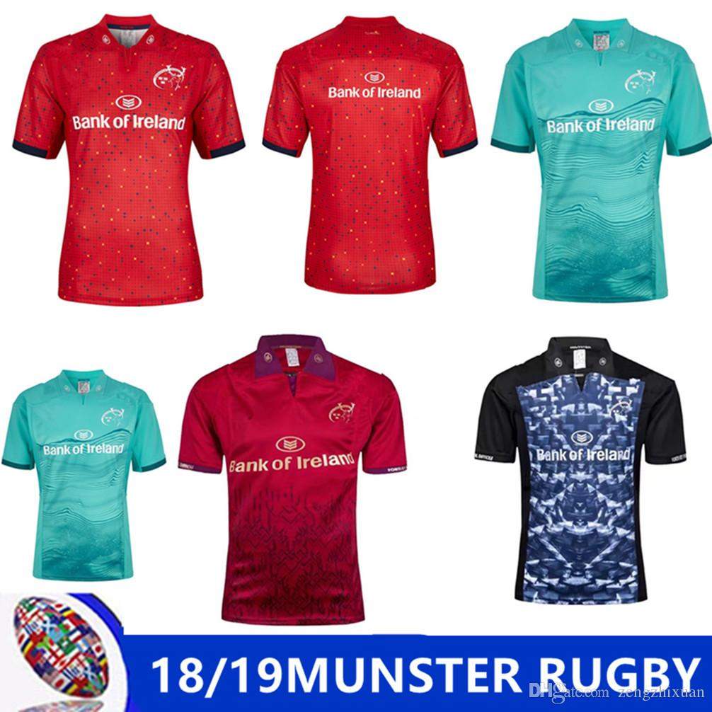 5ac94cfe86d 2019 2018 2019 Munster Rugby Jerseys 2018 19 Top Quality Home Away Rugby  Shirts Ireland League 2018 MUNSTER HOME RUGBY Size S M L XL XXL 3XL From ...