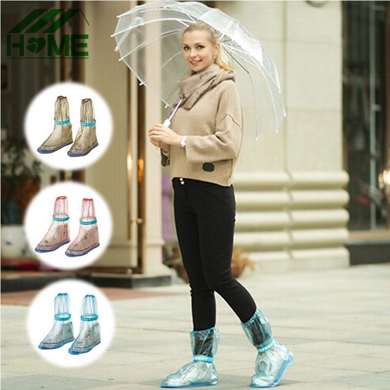 0d61e72c4 PVC Adjustable Rain Shoe Cover Long Style Beam Port Overshoes Waterproof  Slip Resistant Raincoat Rain Boots Accessories Supplies Rain Gear For  Babies Kids ...