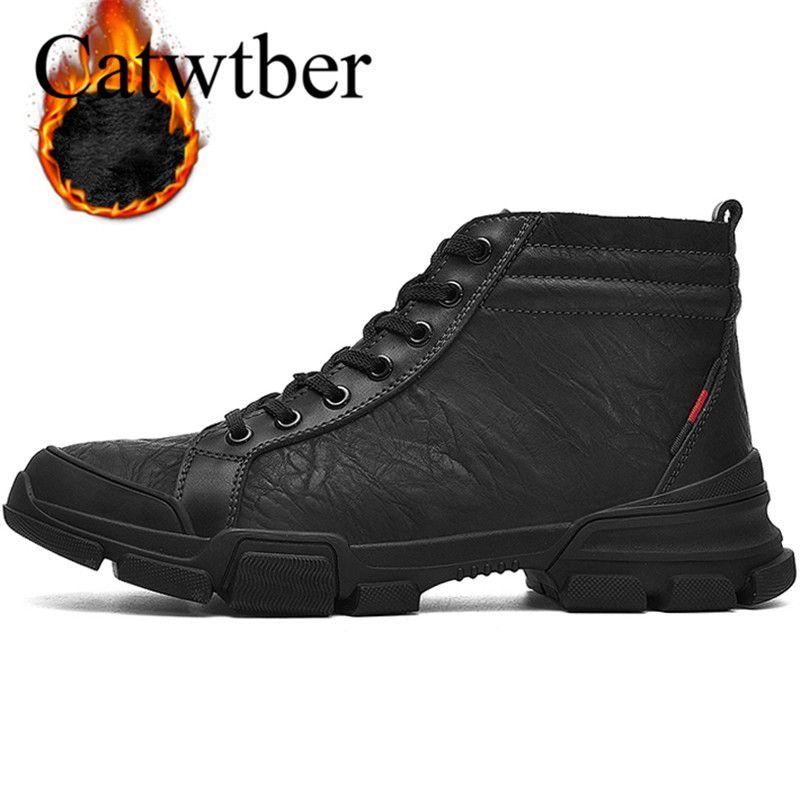 c11dc60e2e4 Compre Catwtber Calzado De Trabajo Para Hombre Botines De Cuero Genuino  Calzado De Seguridad Para Hombres Calzado Casual Calzado De Cuero Chaussure  Suave ...