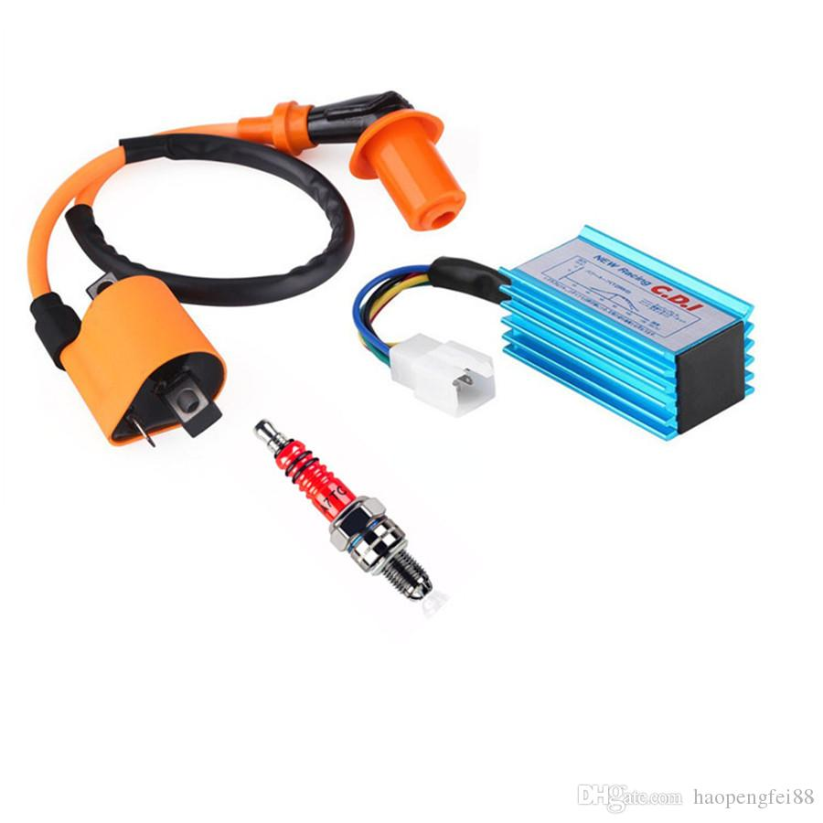 2019 racing cdi 5 pin + ignition coil + spark plug for 50 160cc atv quad  dirt bikes from haopengfei88, $12 57 | dhgate com