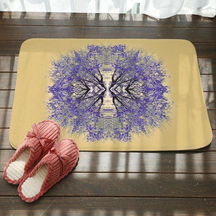 2018 Bath Mat Digital Flannel Foot Pads Color Life Tree Floor Door Mat Modern Style Home Use Bathroom Kitchen Mats