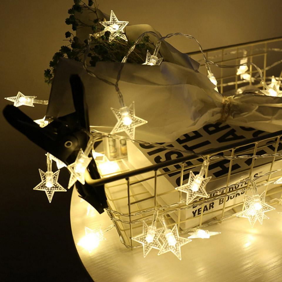 3m star fairy lights battery operated led christmas lights outdoor 3m star fairy lights battery operated led christmas lights outdoor indoor string garland for tree garden bedroom home decoration battery powered string aloadofball Image collections