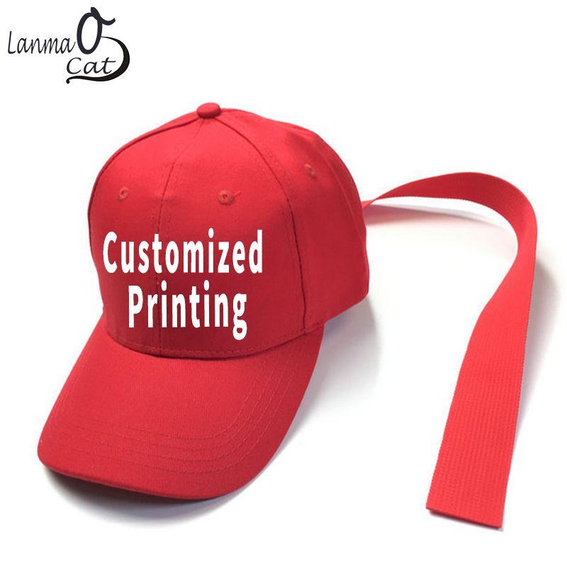 1d1c5d0c79b Lanmaocat Logo Customized Cap GD Long Strap Baseball Cap Men Women Fashion  Long Strap Hat Custom Print Cap Store Custom Fitted Hats From Jianyue16