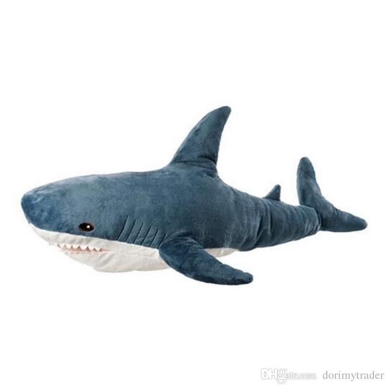 Pop Soft Animal Shark Plush Toy Big Stuffed Anime Bite Sharks Pillow For  Kids Adult Gift Decoration 39inch 100cm UK 2019 From Dorimytrader a4b9264eb