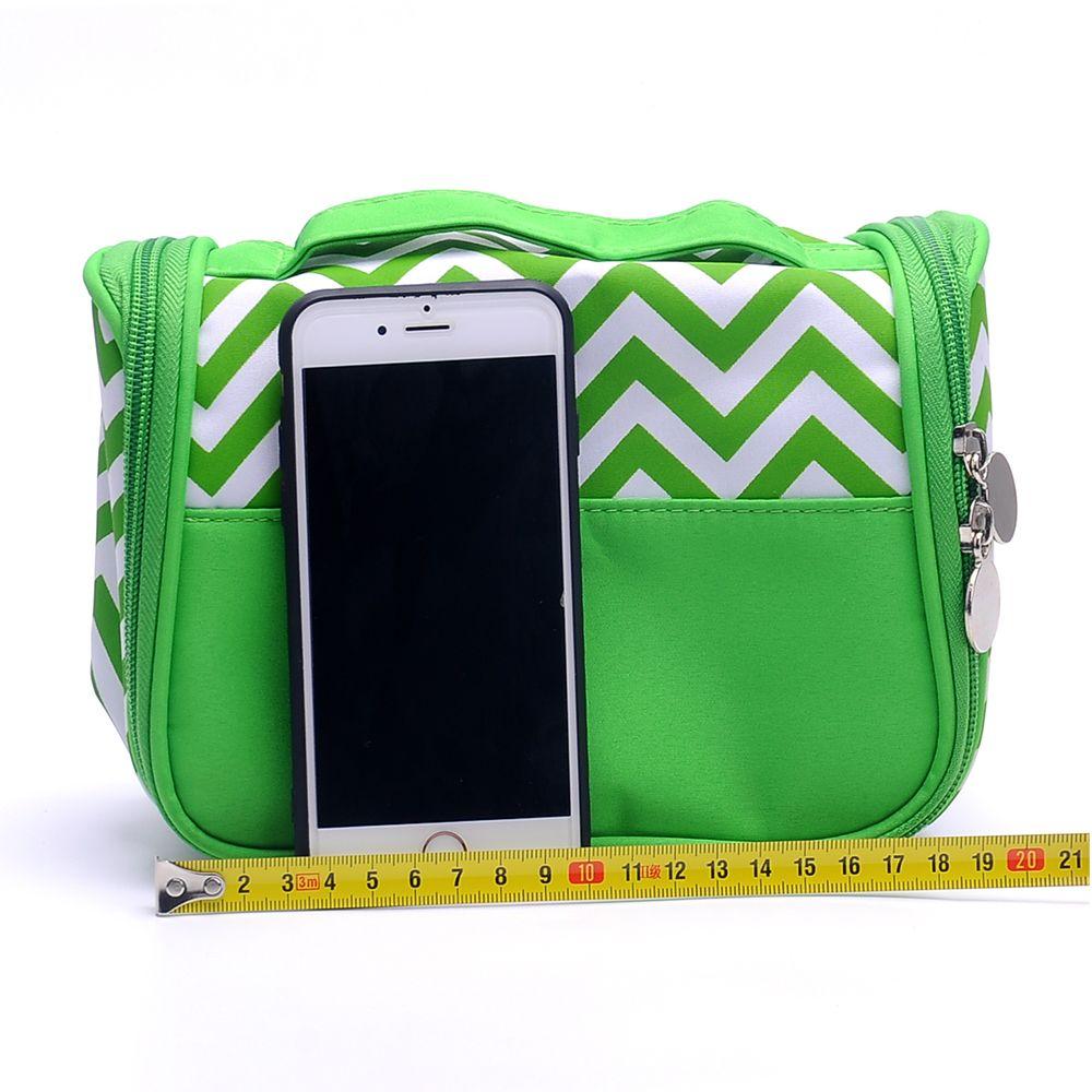 142f1b5401 Wholesale Chevron Travel Toiletry Bag Zigzag Cosmetic Bag Bathroom ...