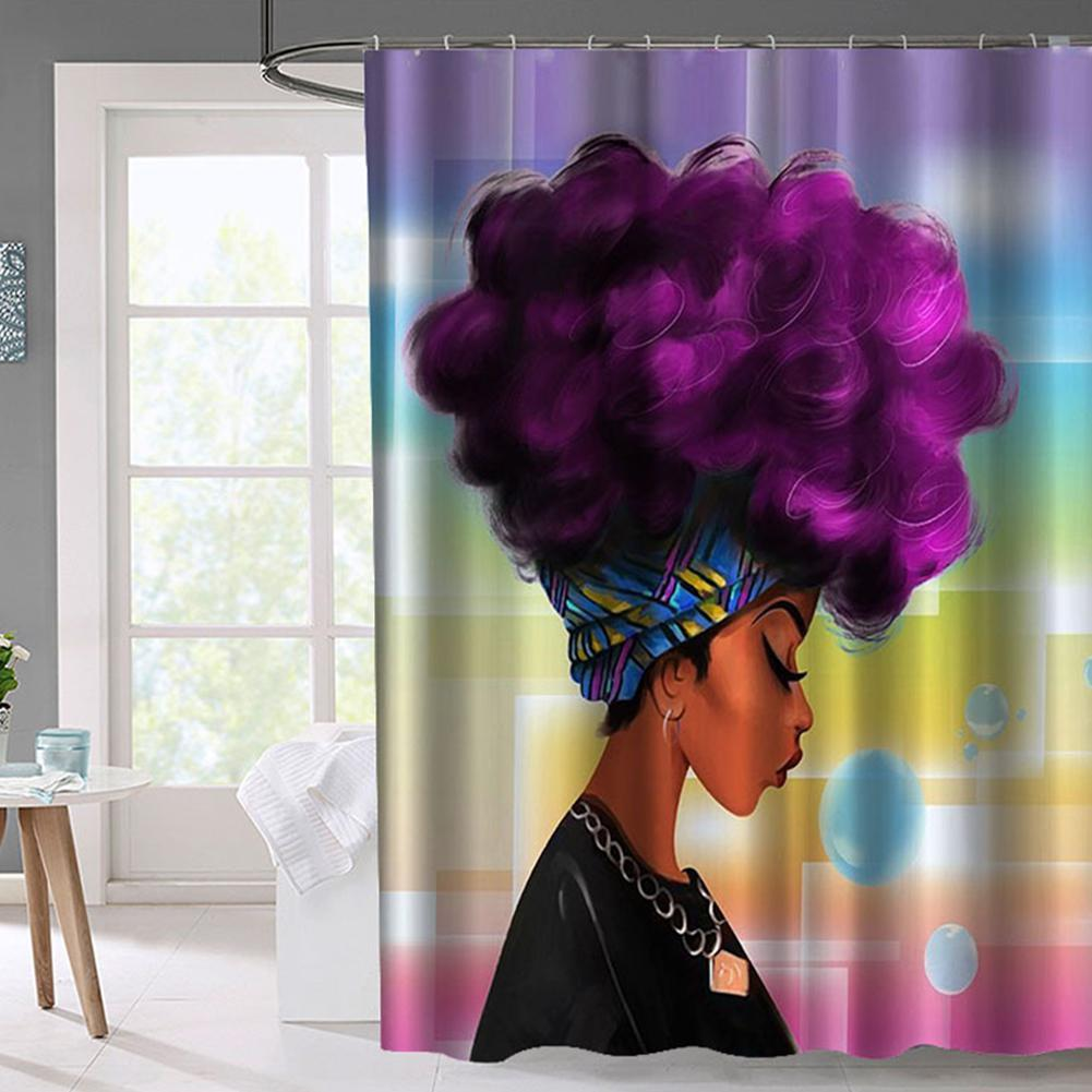 AsyPets Stylish African Woman Shower Curtain Bathroom Decoration 40 Curtains Online With
