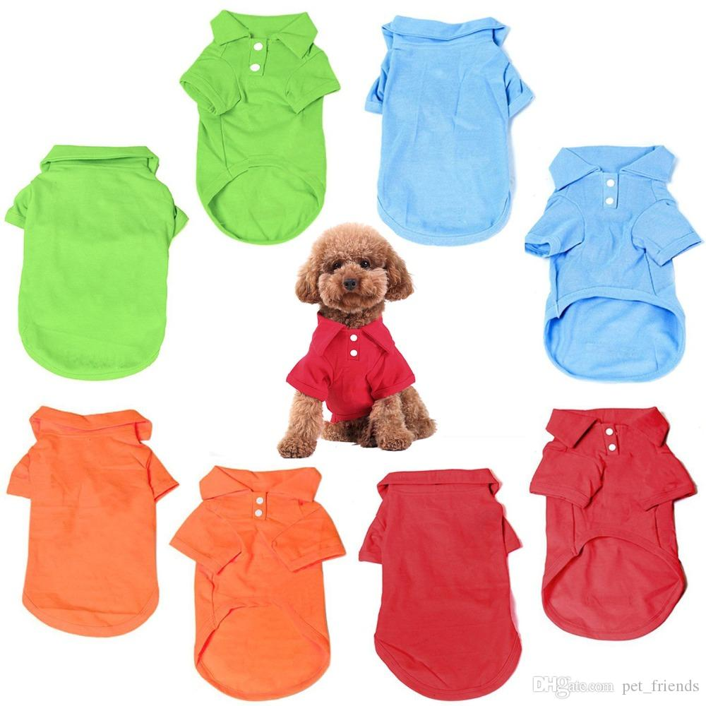 Pet Dog Puppy Polo T-Shirt Vest Short Sleeve Costume Summer Clothes Outfit Apparel Coats Tops Pet Supplies