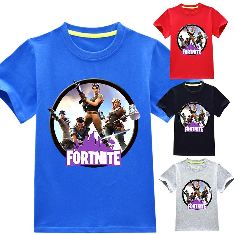 41685436f066f Acheter Fortnite T Shirts 3 ~ 14 Ans 100% Coton Cartoon Enfants ...