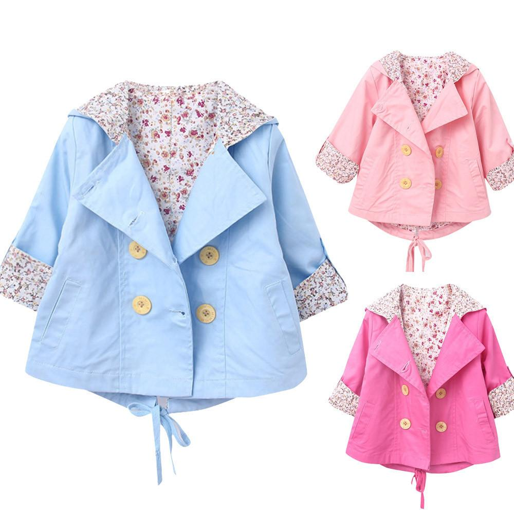 cf009b221 ARLONEET Jacket Baby For Girls Floral Print Coat Windbreaker Winter ...