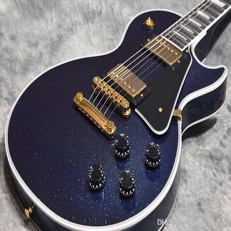 e043f5e914c8  China Guitars Custom Shop Dark Blue Silver Powder Mahogany Body Rosewood  Fingerboard 22 Frets 6 String Custom Electric Guitar Acoustic Bass Guitar  Facts ...