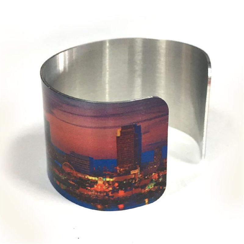 여자를위한 승화 알루미늄 팔찌를위한 빈 팔목 팔찌 친구를위한 customizable 보석 선물은 사진 도매를 인쇄 할 수있다