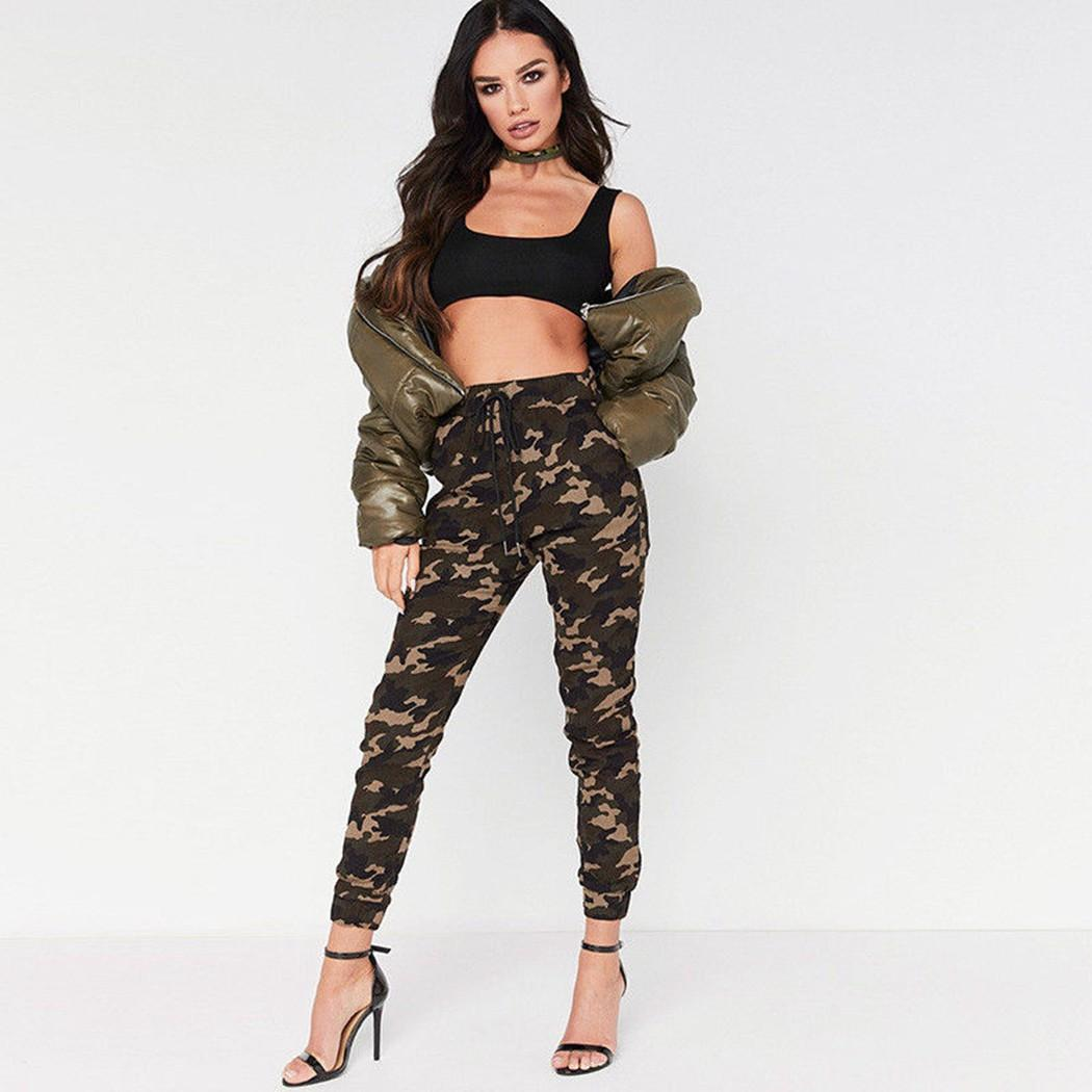 096c207f739b3 2019 2018 Summer Fashion Womens Sexy Camo Cargo Trousers Pants Army Combat  Camouflage Jean Hot Sale Femme From Veilolive