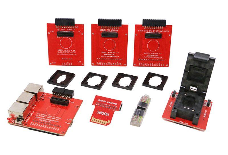 Alborado Original E-mate box Emate box E-Socket pro EMMC TOOL all in 1  support BGA153/169, BGA162/186,BGA529, BGA -221 SD reader