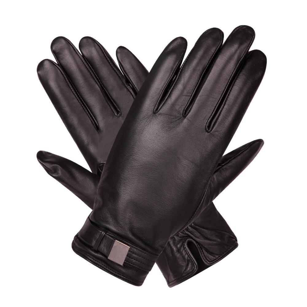 b5516941d67806 Großhandel Touchscreen Halten Sie Warm Leder Handschuhe Männlichen Winter  Plus Samt Winddicht Fahren Rutschfeste Echtem Leder Mann Handschuhe  M18003NC 9 Von ...