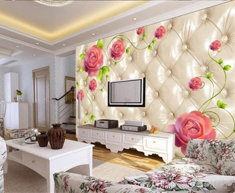 Modern Flower Mural Photo Wallpapers Living Room TV Sofa