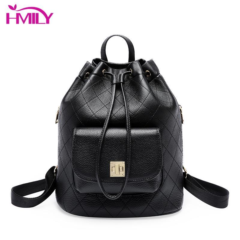 9bda20bff38a HMILY England Style Women Bag Genuine Leather Female Backpack New Travel  Backpack Pack Girl High Quality Cowskin Soft Backpacks Backpacks Cheap  Backpacks ...