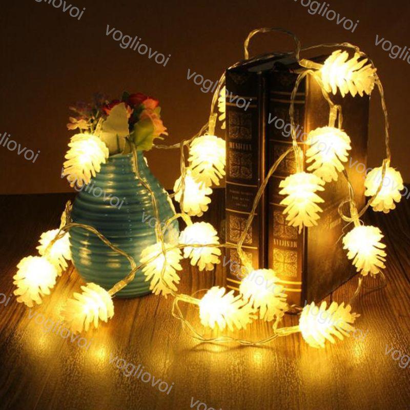 Weihnachtsbeleuchtung Tannenzapfen.Weihnachtsbeleuchtung 4 5v Baum Hängende Ornamente Warmweiß 5 Mt 4 Mt 3 Mt Kiefer Kegel Urlaub Dekor Weihnachten Geschenk Festival Anhänger