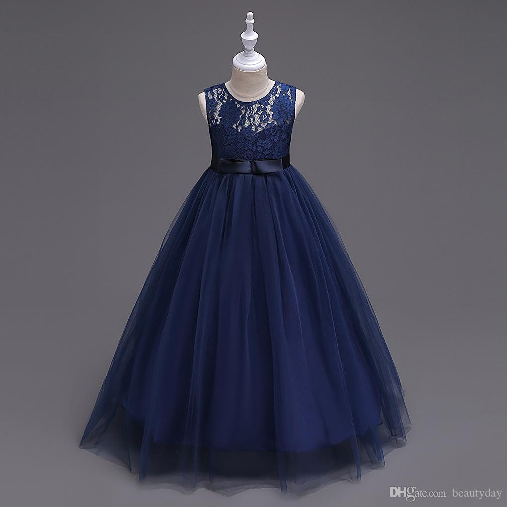 1a2845bd6 Navy Blue And Ivory Flower Girl Dresses