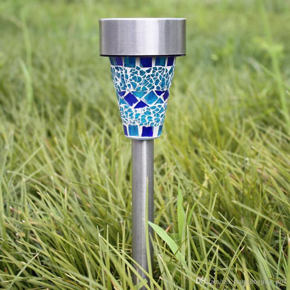 Mosaic Solar Lawn Light LED Path Colorized Light Outdoor Garden Lawn Spot Lamp Outdoor Stake Lights OOA4341