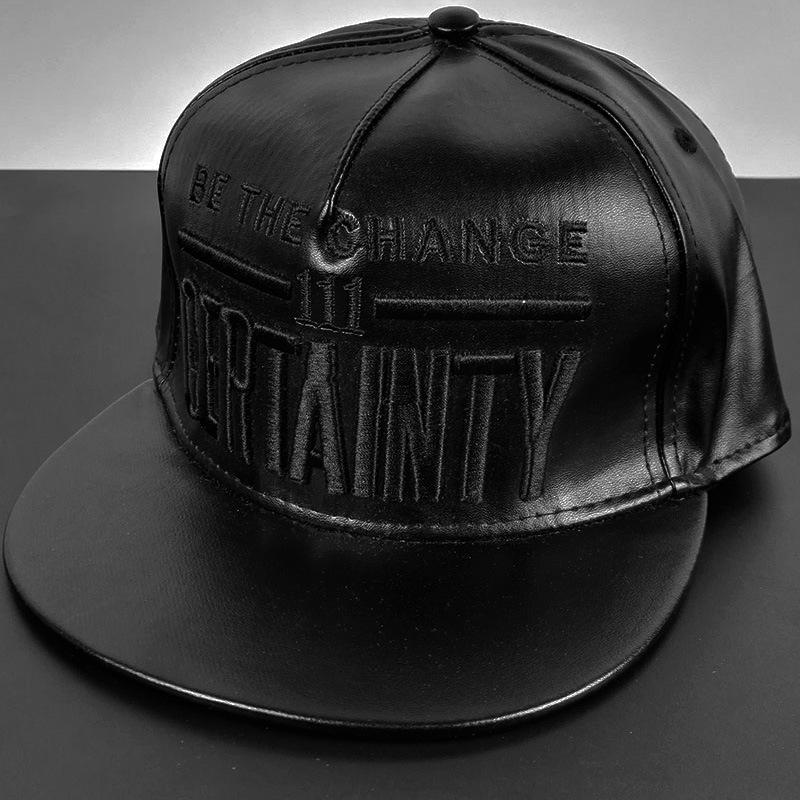 New Pattern Letter Embroidery Hip Hop Cap Men PU Leather Baseball Hat Women  Snapback Caps Sun Hats Summer Winter Polo Cap Trend Caps Online Hats And  Caps ... 3dc583baa34