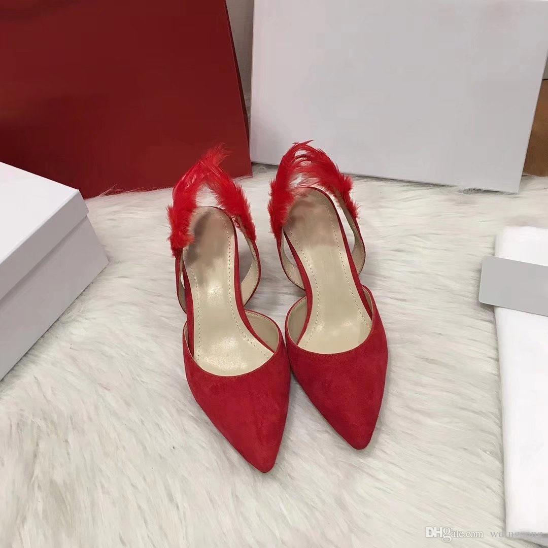 57eff0462331 7cmWomen Pumps High Heel Shoes Stylish Sheepskin Pointed Toe Ladies High Heel  Shoes Fashion Pumps High Heels Online with  102.86 Pair on Wdingsong s  Store ...