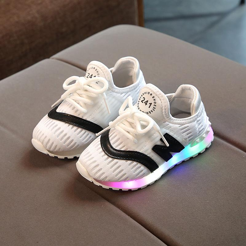 4e395aa35a80 2018 High Quality LED Lights Kids Casual Shoes 1 5 Years Old Baby Boys And  Girls Running Shoes Newborn Soft Sports Glowing Kids Sports Trainers Cheap  Youth ...