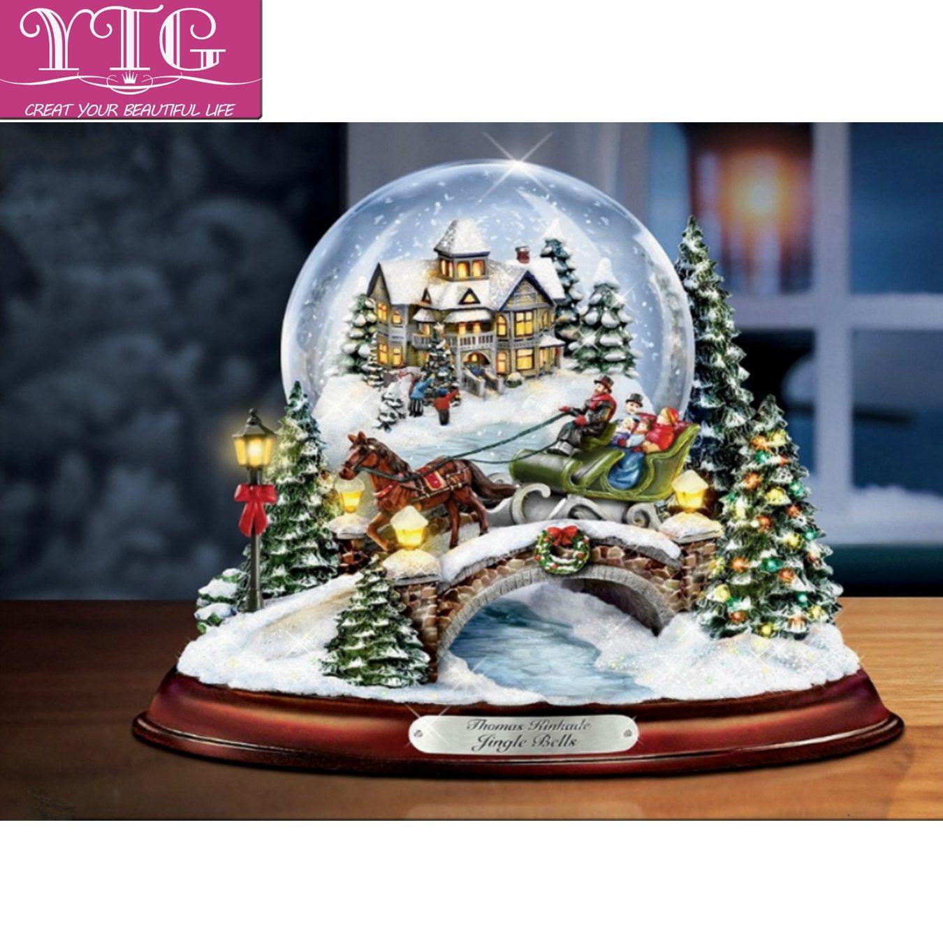 Großhandel Diamant Stickerei, Weihnachten, Schnee, Szene, Voll ...