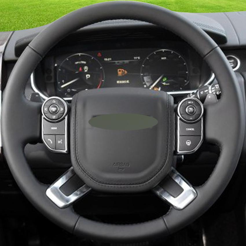 fc1f9d5d2 Compre Couro Preto Mão Costurado Tampa De Volante Do Carro Para Land Rover  Range Rover 2013 2017 De Chen331255