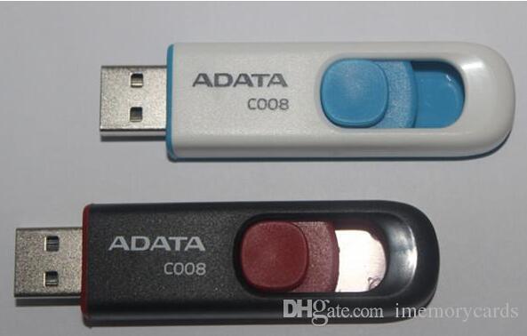 100 % 실제 용량 ADATA C008 2GB 4GB 8GB 16GB 32GB 64GB USB 2.0 플래시 메모리 펜 드라이브 스틱 Pendrives Thumbdrive