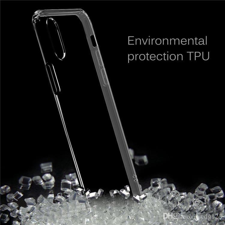 IPhone XS için Max XR Note9 S9 + Crystal Clear Yumuşak Silikon Şeffaf TPU Kılıf Kapak iphone X 8 7 6 6 S Artı Samsung S9 S8 Not 9 8