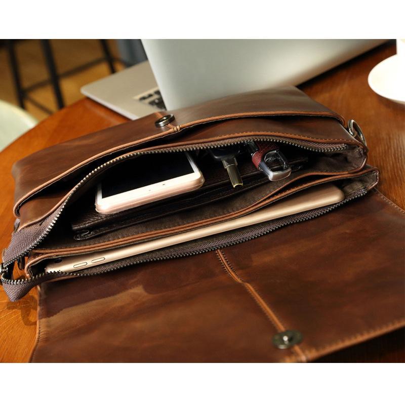 Новый случайный портфель бизнес Сплит кожа сумка мужчины сумки посыльного таблетки сумочка мужская путешествия сцепления сумки VK306