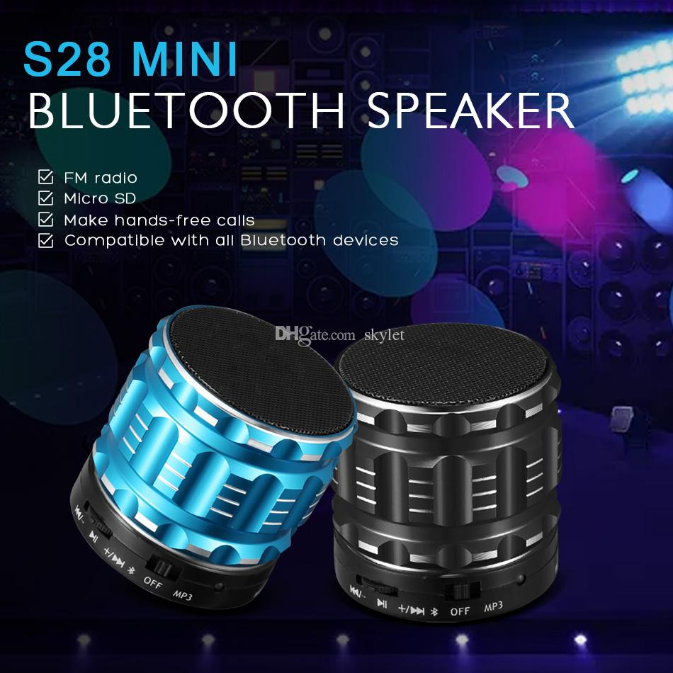 Mini Bluetooth Speaker S28 Wireless Stereo Speakers with TF SD Cards Slot Portable FM Play Radio For Universal Cellphones with Retail Box