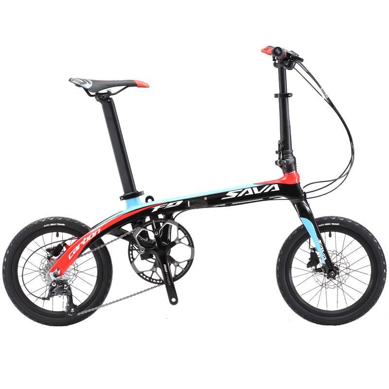 Folding Bike SAVA 16 Inch Carbon Fiber Frame Children Mini City ...