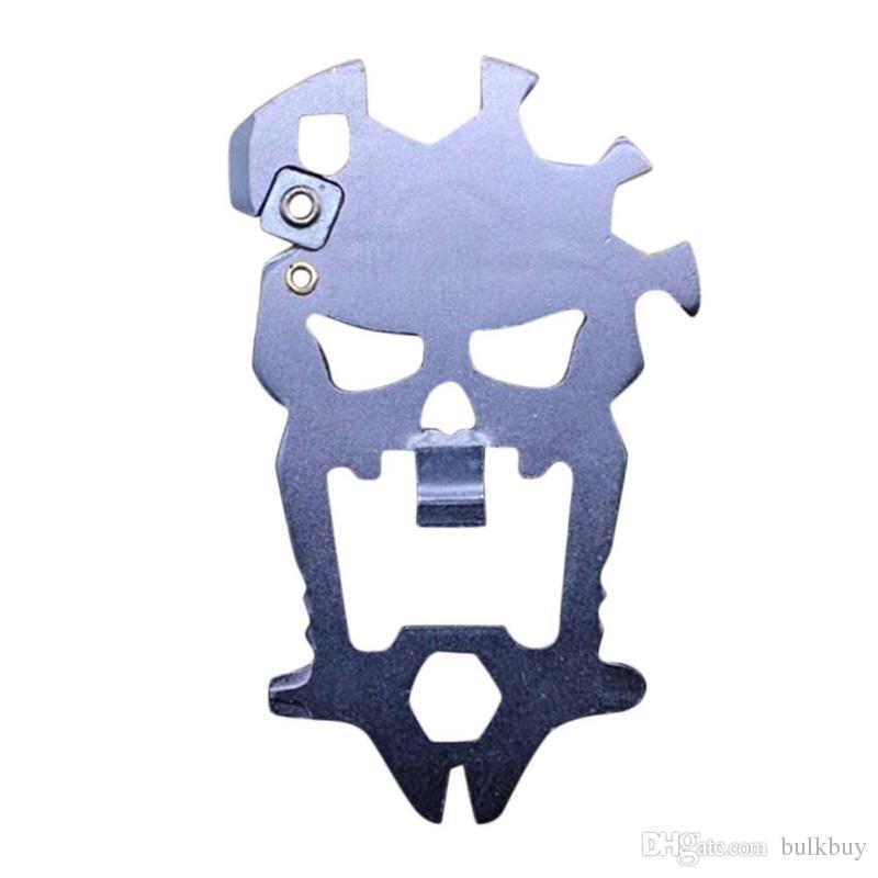 Außen Schädel Multifunktionale Kombinationswerkzeug Multifunktions Flaschenöffner Schraubendreher Schlüssel Schärfen Messer Karabiner
