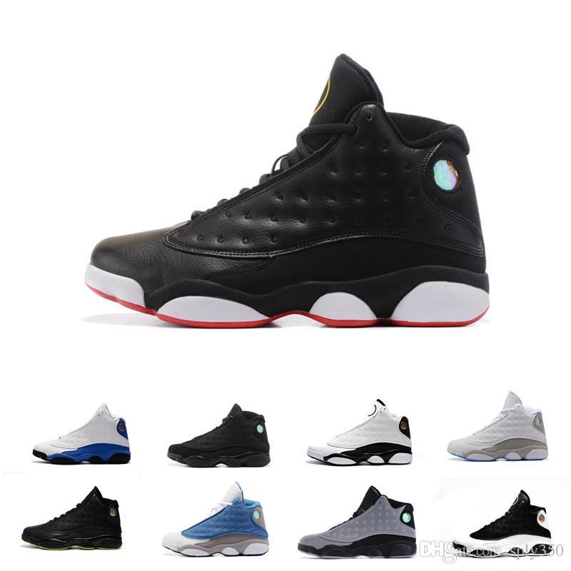 online store 1bcc7 30bfc Acheter NIKE Air Jordan 13 13 13s Chaussures De Basket Ball Pour Hommes 3M  GS Hyper Royal Italie Bleu Bordeaux Flints Chicago Bred DMP Blé Noir Blanc  De ...