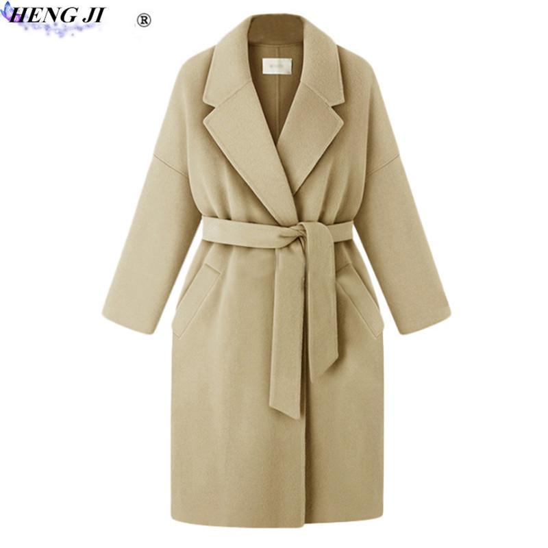 Großhandel Heng Ji Damen Mantel Mit Wolle Mittel Und Lang Herbst