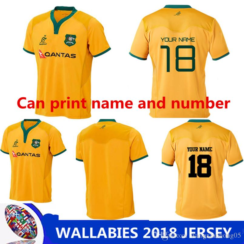 8934376863e WALLABIES 2018 JERSEY Australian Rugby Jerseys RLWC 2018 Kangaroos ...