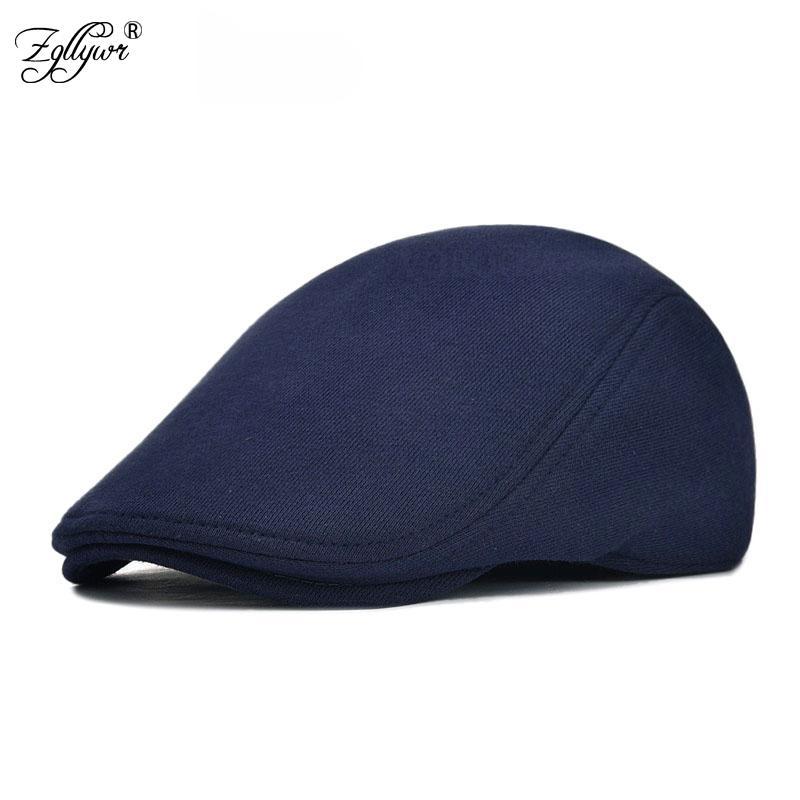 Großhandel Zglywr Baumwolle Männer Frauen Soft Beret Flat Cap Fahrer ...