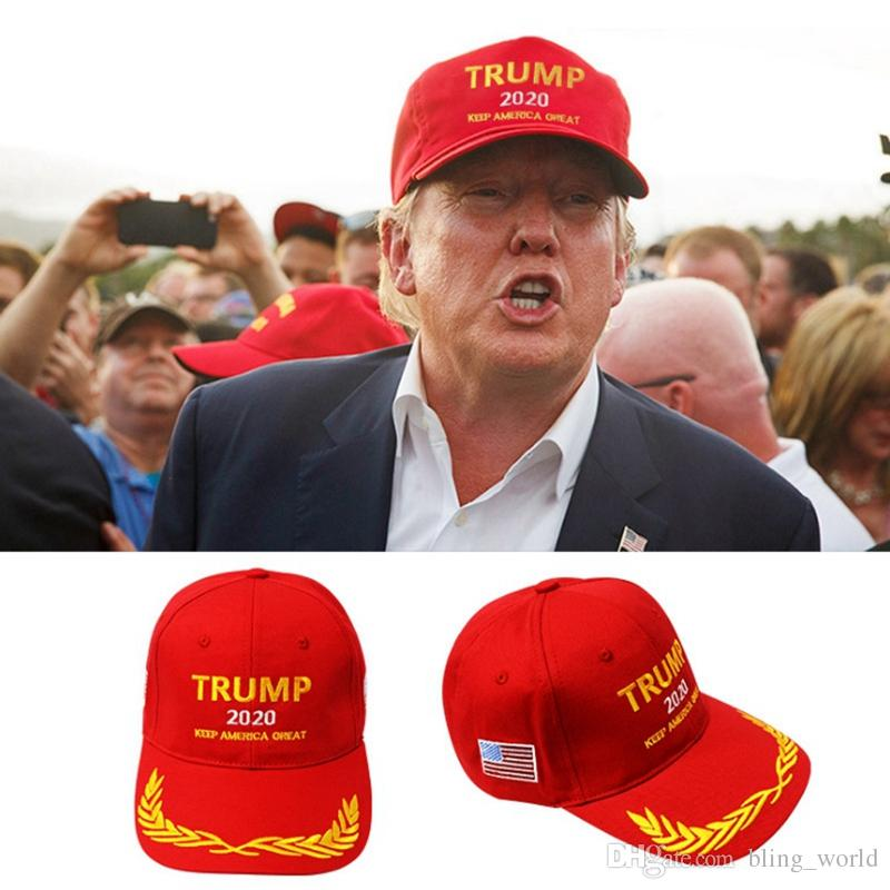 1d5ff7d5330 2019 Trump Baseball Cap Trump 2020 Embroidery Baseball Hat Keep Make  America Great Printed Elected Caps Adult Adjustable Hats YW1655 From  Bling world