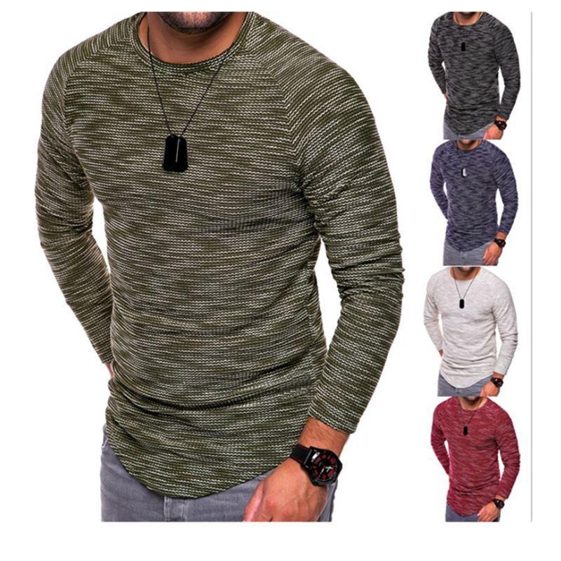 5ebb8d0b9bbfe New Design Fashion Men's T-Shirt 2018 Summer Long Sleeve Solid Color T  Shirt Men Brand Clothes Slim Fit Tshirt Camiseta
