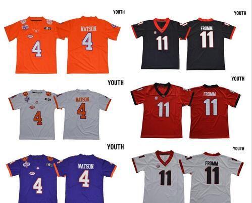 2019 Youth Georgia Bulldogs 11 Jake Fromm 10 Ben Boulware Orange White  Stitched  4 DeShaun Watson Clemson Tigers College Football Jerseys Kids From  ... 5e33879c5