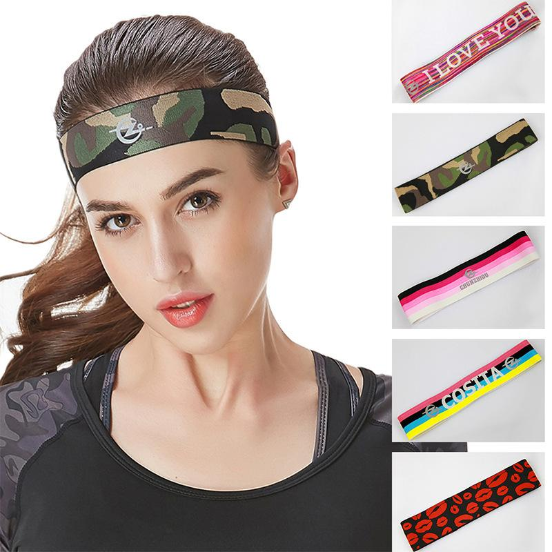 Hair Band Men Women Elastic Letters Fitness Yoga Gym Sport Accessories  Tightens Sweat Movement Headband Bicycle Badminton Run UK 2019 From Jaokui 58be7706725