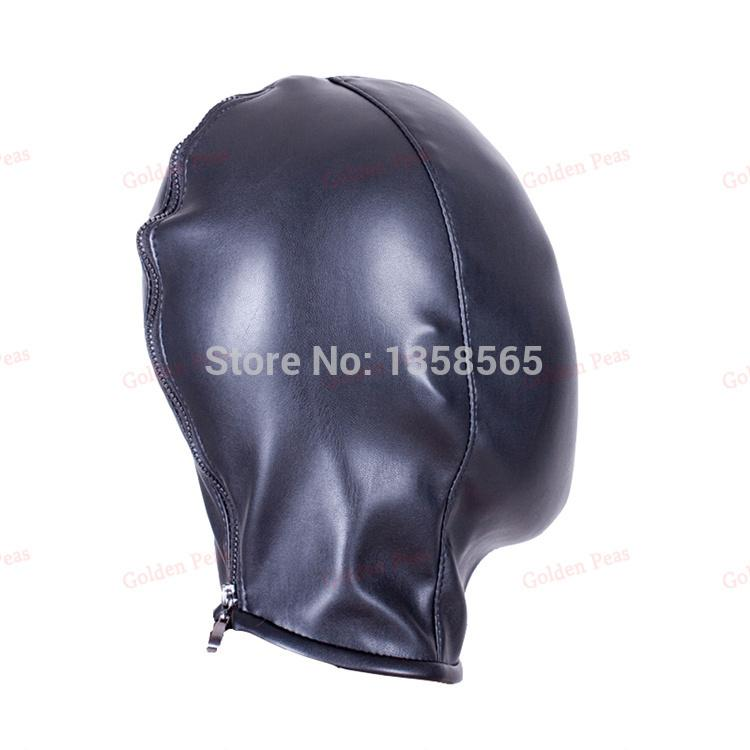 Sex Products Soft PU Leather Mask Hood Bondage Blindfold Sex Toys For Couples Adult Games Fantasy Sex Cosplay Slave Set