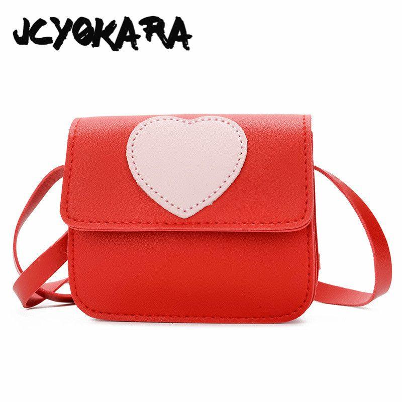971e20076c JCYOKARA Kids Simple Flap Messenger Bag Baby Girls Small PU Bag Heart  Printing For Children Mini Shoulder Size 12 13 6cm Backpack For Backpack  Black Friday ...