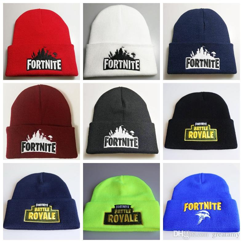 b61e92e01d9 Fast Shipping Fortnite Battle Knitted Hat Hip Hop Embroidery Knitted  Costume Cap Winter Soft Crochet Girls Boys Skuilles Beanies Fortnite  Knitted Hats Hip ...