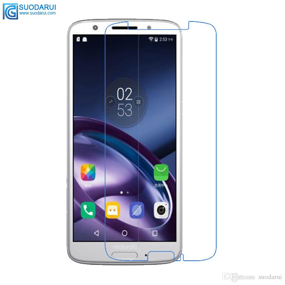 on sale 87ff5 6802d For Motorola moto G6 G6 PLUS Tempered Glass Screen Protector Good Quality  0.26mm 2.5D 9H Accurate hole film with retail package