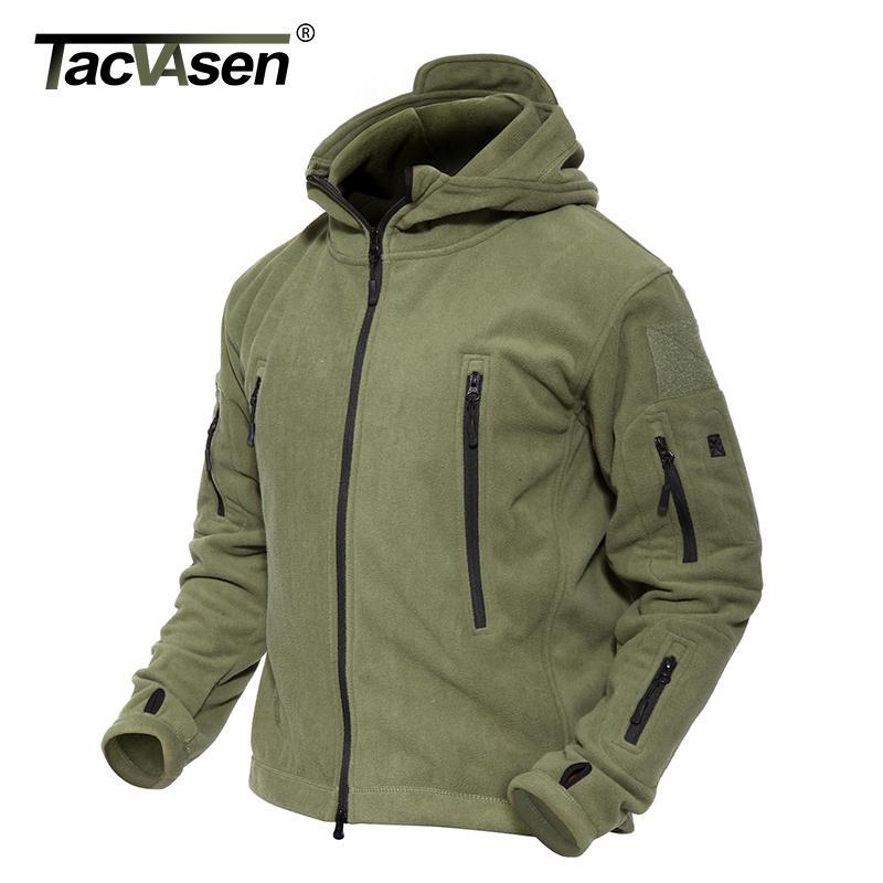 6124cab0ef7 TACVASEN Winter Military Fleece Jacket Warm Men Tactical Jacket Thermal  Hooded Men Jacket Coat Outerwear Hunt Combat Clothes D18100803 Ladies Leather  Bomber ...